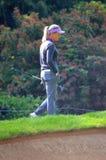 Golfista profesional Suzann Pettersen de las señoras en el campeonato 2016 del PGA de las mujeres de KPMG Imágenes de archivo libres de regalías