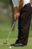 Golfista que pone 01 Foto de archivo libre de regalías