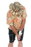 Golfista que trata la bola Fotos de archivo libres de regalías