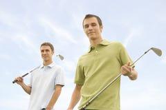 Golfistas Imágenes de archivo libres de regalías
