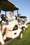 Golfistas de las mujeres Foto de archivo libre de regalías