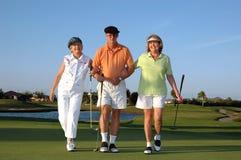 Golfistas felices imagen de archivo libre de regalías