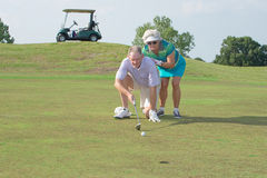 Golfistas mayores Fotografía de archivo libre de regalías