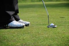 golfisty kładzenie Obraz Stock
