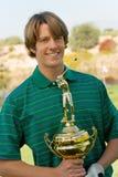 Golfisty mienia golfa trofeum Zdjęcie Royalty Free