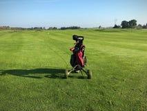 Golfkarretje royalty-vrije stock foto