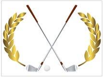 Golfklubbar stock illustrationer