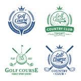Golfklubblogo stock illustrationer