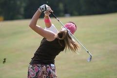 golfladyswing Arkivbilder