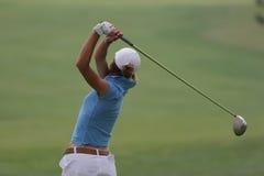 golfladyswing Royaltyfria Bilder
