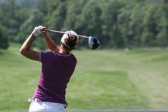 golfladyswing Arkivfoto
