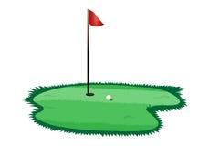Golfloch stock abbildung