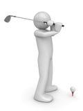 golfman s slaglängd för 2 Royaltyfri Foto