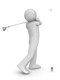 Golfman's stroke stock images