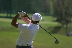 golfmanswing Arkivfoto