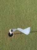 Golfmarkierungsfahne Stockbild