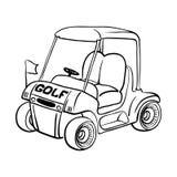Golfmobil stock abbildung