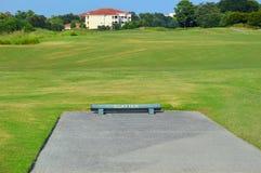 Golfmobil-Streuungs-Etikette stockbild