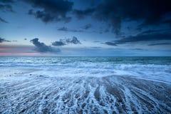 Golfmotie op de kust van de Atlantische Oceaan Stock Afbeeldingen