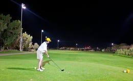 golfnatt Royaltyfria Bilder