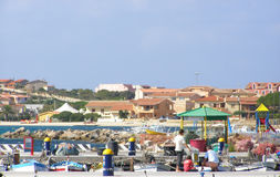 Golfo Aranci口岸-撒丁岛,意大利 免版税库存照片