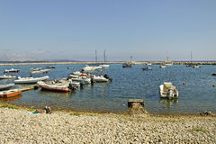 Golfo aranci coastline. Royalty Free Stock Images