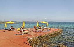 Golfo aranci coastline. Royalty Free Stock Image