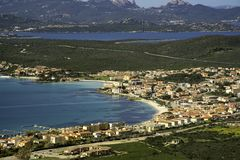 Golfo Aranci, panoramica royalty free stock photography