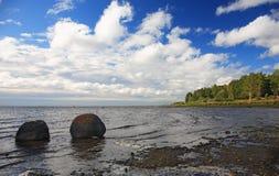 Golfo de Finlandia, costa Fotografia de Stock