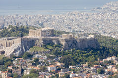 Golfo de la acrópolis, de Plaka, y de Saronic, Atenas Imagenes de archivo