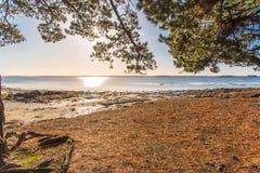 Golfo de Morbihan, en Bretaña imagen de archivo