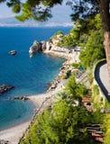 Golfo de Nápoles y de montañas Imagen de archivo