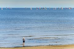 Golfo de Riga na estância turística de Jurmala, Letónia Fotografia de Stock Royalty Free