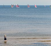 Golfo de Riga na estância turística de Jurmala, Letónia Foto de Stock
