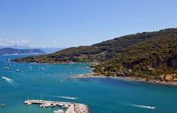 Golfo dei poeti e dell'isola di Palmaria (sito) dell'Unesco, Italia Fotografia Stock