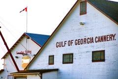 Golfo del pueblo histórico de Steveston del sitio de la herencia de Georgia Cannery Imagenes de archivo