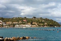 Golfo di La Spezia vicino ad Oporto Venere - l'Italia Fotografia Stock Libera da Diritti