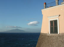 Golfo di Napoli da Sorrento Fotografia Stock