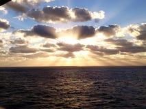 Golfo do México meados de do nascer do sol da manhã foto de stock