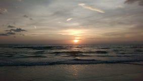 Golfo do por do sol de México Fotografia de Stock Royalty Free