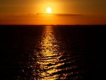 Golfo do por do sol de México imagem de stock