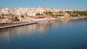 Golfo e città Mahon, Minorca, Spagna video d archivio