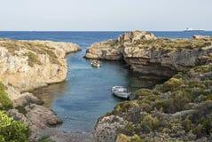 Golfo estreito em Grécia Imagens de Stock
