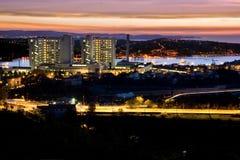 Golfo na noite Fotos de Stock Royalty Free