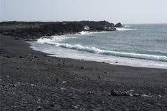 Golfo overzeese van Gr kust, lanzarote, canaria eilanden Stock Afbeelding