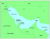Golfo Pérsico Imagens de Stock Royalty Free