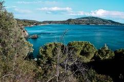 Golfo Ttella, Elba wyspa, Tuscany, Włochy zdjęcie stock