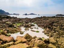 Golfo y rocas Imagen de archivo libre de regalías