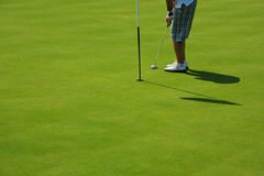 golfowa dziura Fotografia Stock