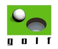 golfowa dziura Zdjęcia Stock